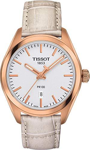 Tissot Damen-Uhren Analog Quarz One Size Leder 86738635 (Tissot Uhr Damen Classic)