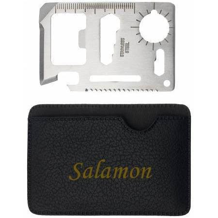 Preisvergleich Produktbild Mehrzweckwerkzeug mit gravierten Halter mit Namen: Salamon (Vorname/Zuname/Spitzname)