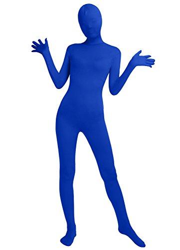 Frauen-Fit Ganzanzug Spandex One Piece Ganzkörper Zentai Kostüm Lycra Bodysuit (L, royal blue) (Royal Baby Kostüm)