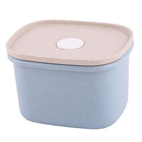 Stroh Pillendose (Sourcingmap® Haushalt Wiezen Stroh Körner Jujube Bean Maiß Spicherung Halter Koffer Deckel DE)