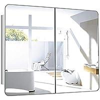 Comparador de precios Armarios con espejo Armario de baño de Acero Inoxidable con Espejo Espejo de baño Armario de Almacenamiento (Color : Silver, Size : 80 * 60 * 13cm) - precios baratos
