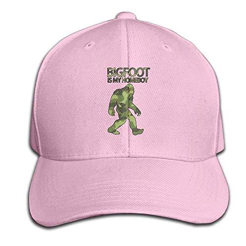 akingstore Bigfoot ist Meine Homeboy-Cam-Hysteresen-Sandwich-Kappen-rote Baseballmütze-Hüte justierbare emporgeragte Fernlastfahrer-Kappe - Homeboy Cap