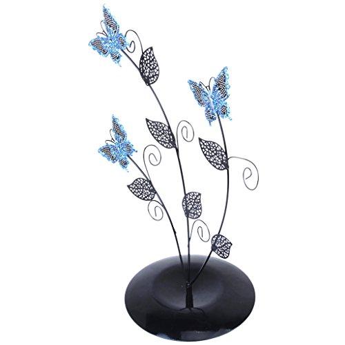Blau Schmetterling Baum Schmuck StänderOhrring Halter Veranstalter Anzeige Rack