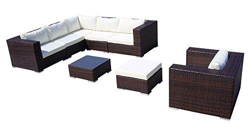 Baidani Gartenmöbel-Sets 10c00006.00001 Designer Lounge-Liege Gardendream, Ecksofa, 1 Sessel, 1...