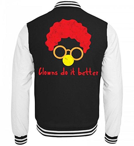 rtige College Sweatjacke - Clown - Zirkus - Geschenk - Karneval - Kostüm - Circus - Gift: Clowns Do It Better (Zirkus Kostüme Ideen Für Männer)