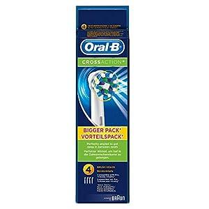 recambio: Oral-B CrossAction - Set de 4 recambios para cepillo de dientes eléctrico recarg...