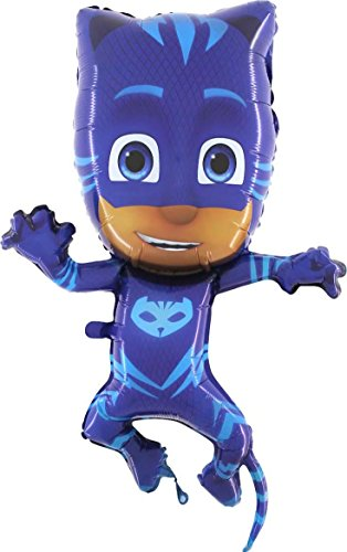 grabo balón de papel de aluminio supershape 31''-79cm superpigiamini-pj Mask catboy No confeccionada, Azul, L174