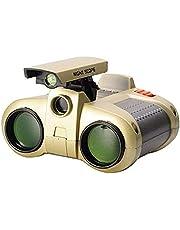 Popsugar Night Scope Binocular with Pop-Up Light for Kids, Gold