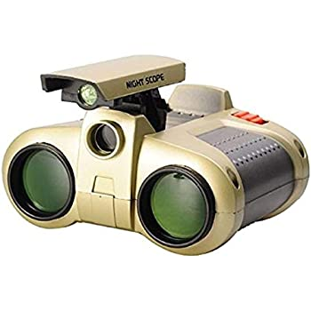 Popsugar Night Scope Binocular with Pop-Up Light for Kids (Gold,THJYW-1226)