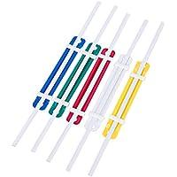 KICC 50Pcs School School Colorful Plastic Paper Fasteners, 2 agujeros de color surtido para la decoración del hogar/oficina