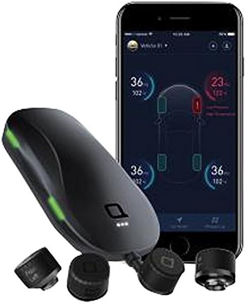 Nonda Smart Tire Saftey Monitor Reifendruckkontrollsystem Mit Externen Sensoren Praktische Bluetooth Überwachung In Echtzeit Für Android Ios Auto Reifendruckmesser Reifendrucksensor Schwarz Auto