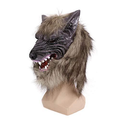 qiaoaoa Gruselige Latex Cosplay Halloween Wolf Kopf Maske Tier Party Kostüm Theater Prop Gute Qualität (Theater Qualität Kostüm)