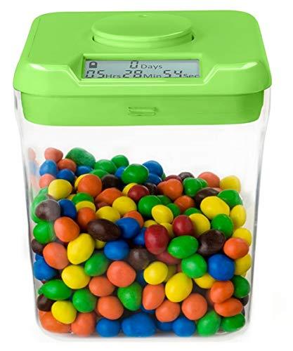 Kitchen Safe: Verschließbarer Behälter mit Zeitschaltuhr (Green Lid + Clear Base) - 5.5