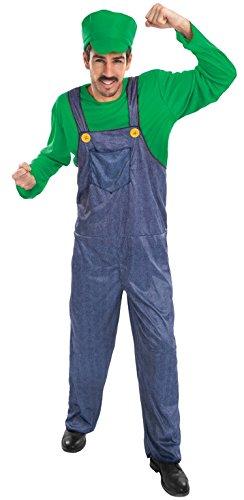 Chaks c4200m, Kostüm Klempner Grün Erwachsene, Größe M