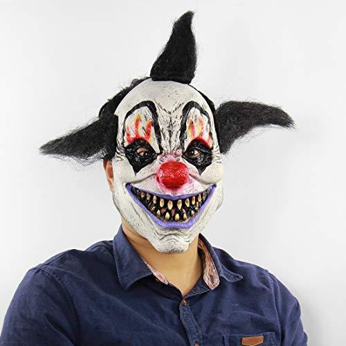 Halloween Horror Wizard Clown Maske Haunted Haus Zimmer Escape Dress up Live-Show Scary Perücken ()