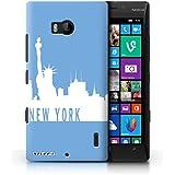 Coque de Stuff4 / Coque pour Nokia Lumia 930 / New York/Bleu Design / Toits de la Ville Collection