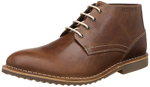 Red Tape Men's Brown Leather Boots (RTS7132B) - 9 UK