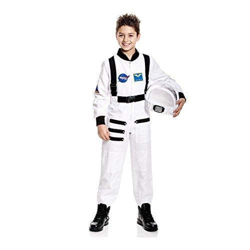Kostümplanet Astronauten Kostüm für Kinder + Astronauten Ausweis Astronautenkostüm Kinderkostüm Größe 128 (Kinder Für Astronauten-helm)