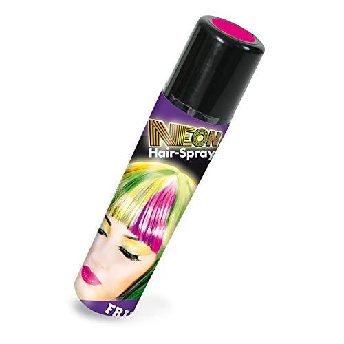 PARTY DISCOUNT® Farbiges Haarspray - lässt Sich Wieder auswaschen, NEON, 100 ml, pink