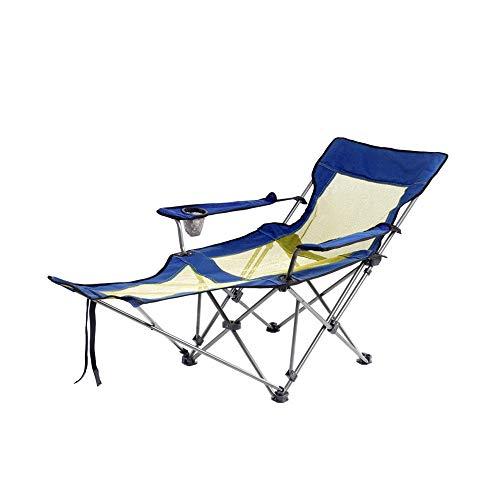 GWDJ Camping Liege, Tragbare Angeln Rückenlehne Stuhl Outdoor Camping Grill Strand Stuhl Faule Multifunktionsstuhl Lounge-Sessel -