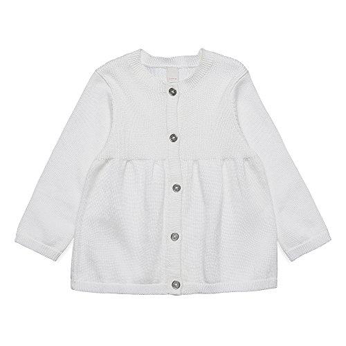 Esprit Kids Baby-Mädchen Strickjacke Cardigan, Weiß (Off 110), 62