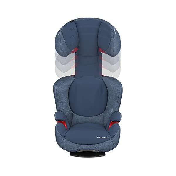 Maxi-Cosi Rodi AirProtect Child Car Seat, Lightweight Highback Booster, 3.5 - 12 Years, 15-36 kg, Nomad Blue Maxi-Cosi Excellent side impact protection - with the combination of patented air protect technology in the headrest and side impact protection in the backrest and seat reduces the risk of head, neck, back and hips injuries. Patented air protect technology in headrest - the risk of head and neck injuries are reduced up to 20%* thanks to the air protect technology in the headrest. *see maxi-cosi's website for more information Easy to install - easily install this car seat with a 3-point seat belt and attach the anchorage point in the head rest through your cars head rest 5