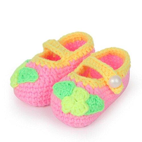 Clode® Niedlich Baby Mädchen Schuhe Wollene handgefertigte Lässige Schuhe für baby 0-1 Jahre alt F