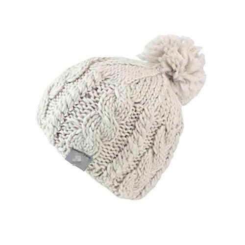 YDS SHOP Mode Winter Hand Weben Beanie Hut Weibliche Ball Cap Pom Poms Warme Mütze for Frauen (Color : Off-White) -