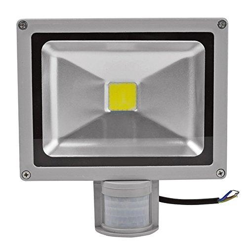 ALPHA DIMA 30W LED Strahler mit Bewegungsmelder,Außen Fluter 6000K Kaltweiß Außenleuchte IP65 Wasserdicht Scheinwerfer für Garten,Garage,Hotel
