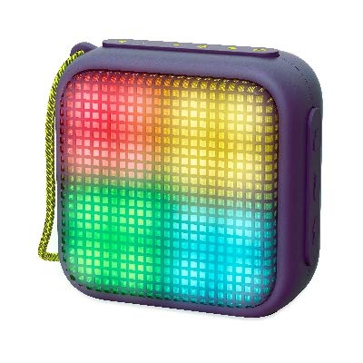 Energy Sistem Beat Box 2 + Lightcube Amethyst - Altavoz (luz, TWS, Bluetooth v4.2, 5W, microSD, MP3, FM Radio) Color Morado