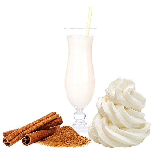 Sahne Zimt Geschmack Eiweißpulver Milch Proteinpulver Whey Protein Eiweiß L-Carnitin angereichert Eiweißkonzentrat für Proteinshakes Eiweißshakes Aspartamfrei (1 kg)