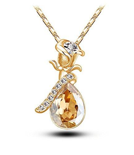 celebrity-jewellery-champagne-autrichien-cristal-goutte-deau-baisse-pendentif-rose-fleur-collier-fem