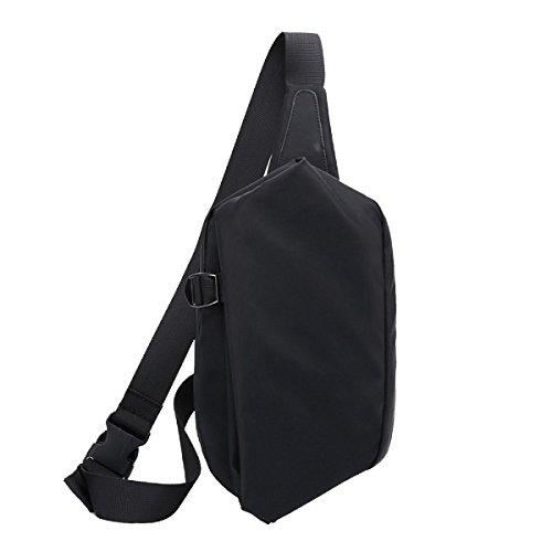Yy.f Mode-Taschen Herren-Außentaschen Lässig Diagonal Paket Herren-Brusttasche Geldbörse Anti-Diebstahl-Umhängetasche Solide Tasche Black