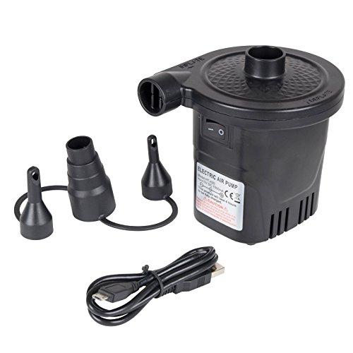 Human Comfort Akku Pumpe Camping Elektropumpe 4400 mAh Luftpumpe USB Aufladbar und Als Power Bank nutzbar