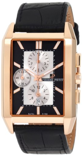 Pierre Petit Men's Quartz Watch Paris P-780B with Leather Strap
