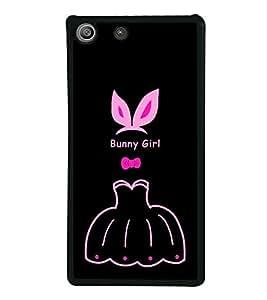 Bunny Girl 2D Hard Polycarbonate Designer Back Case Cover for Sony Xperia M5 Dual :: Sony Xperia M5 E5633 E5643 E5663