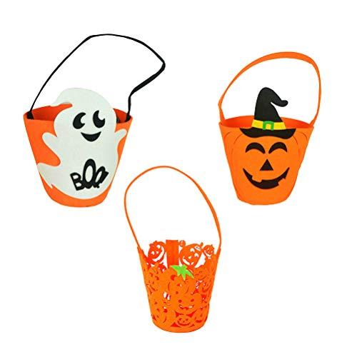 TOYANDONA 3pcs Halloween Kürbis Candy Eimer Stoffbeutel Kids Party Favors