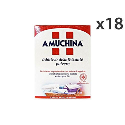 Set 18 AMUCHINA Disinfettante Bucato 500 Gr. Detergenti casa