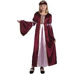 Theme Fancy Dress Disfraz de niña de Princesa Medieval del Renacimiento. 10-13 años
