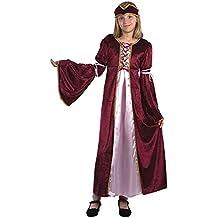 Disfraz de niña de Princesa Medieval del Renacimiento. 6 - 9 años