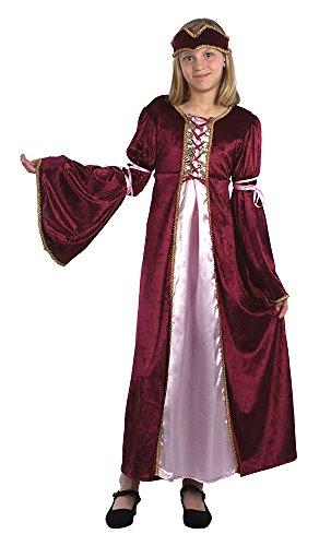 Fancy Me Mädchen Renaissance Prinzessin Maiden Welttag des Buches Woche Historical Shakespeare Kostüm Kleid Outfit 7-14yrs Jahre - 7-9 Years