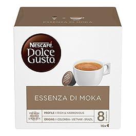 NESCAFÉ DOLCE GUSTO Essenza di Moka Caffè Espresso, 3 Confezioni da 16 Capsule (48 Capsule)