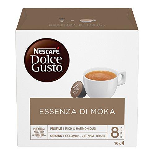 NESCAFÉ Dolce Gusto Essenza di Moka, Caffè Espresso 3 Confezioni da 16 Capsule (48 Capsule)