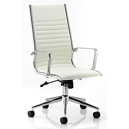 dynamic-ritz-executive-bonded-leather-high-back-chair-with-arms-ivory