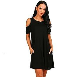 Vestido negro de algodon corto