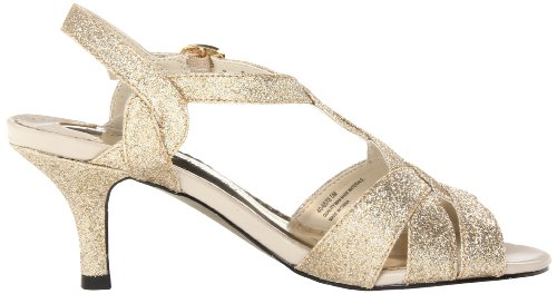 Easy Street Glamorous Synthétique Sandales Gold Glitr