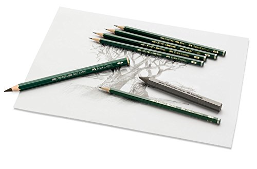 Faber-Castell CASTELL 9000 Negro 1pieza(s) laápiz de color – Lápiz de color (1 pieza(s), Fijo, Negro, Verde, Alrededor)