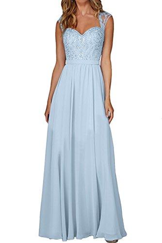 La_Marie Braut Lemon Gruen Glamour Spitze Brautmutterkleider Festlichkleider Abendkleider Lang Rock Himmel Blau