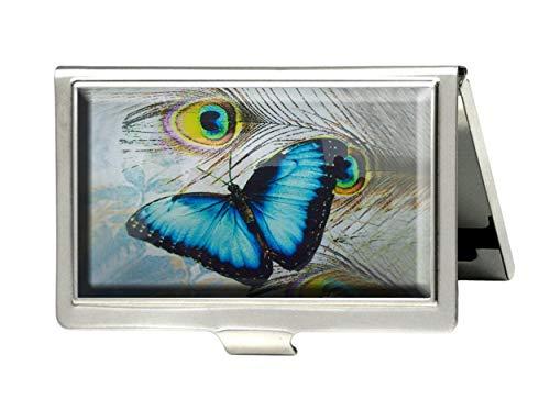 supremecom Schmetterling blau Personalisierte Individuelle Edelstahl Visitenkarte Kreditkarte ID Name Karte Fall Organizer