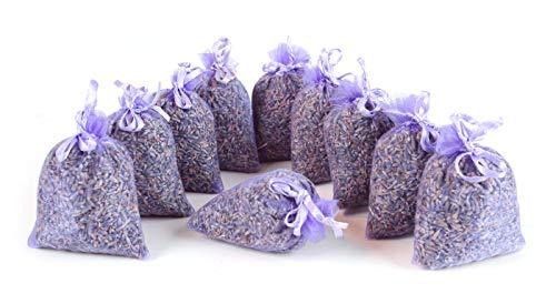 Quertee® 5 x sachets de Lavande avec véritable Lavande française - Total 50 g Fleurs de Lavande